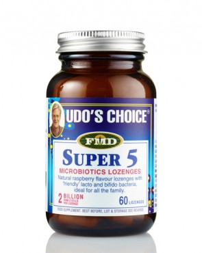 33% EXTRA FREE FILL - Udo's Choice® Super 5 Microbiotic  - 60 Lozenges