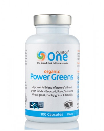 One Nutrition® Organic Power Greens - Sports Safe - 100 Caps