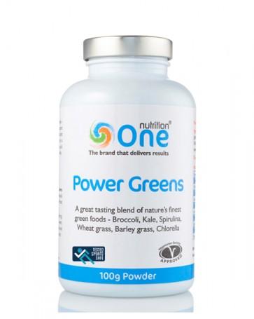 One Nutrition® Organic Power Greens - Sports Safe - 100g Powder