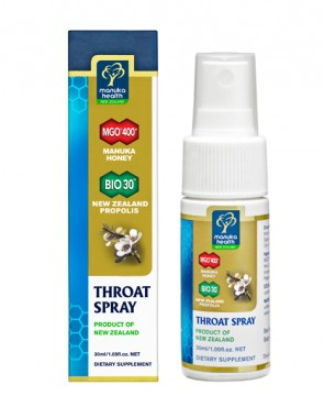 MGO™ 400+ Manuka & Propolis Throat Spray - 30ml (Exp. 8/2019)