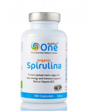 HALF PRICE - One Nutrition® Organic Spirulina - Capsules (Exp. mid May 2019)