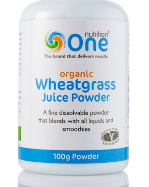 HALF PRICE - One Nutrition® Organic Wheatgrass Juice - 100g Powder (Exp 29/06/2019)