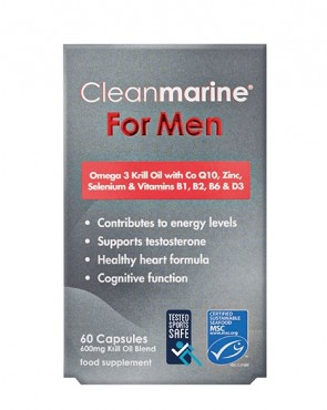 Cleanmarine® For Men - Sports Safe - 60 Caps